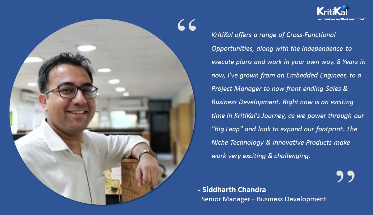 Siddharth Chandra talks about his experience with KritiKal