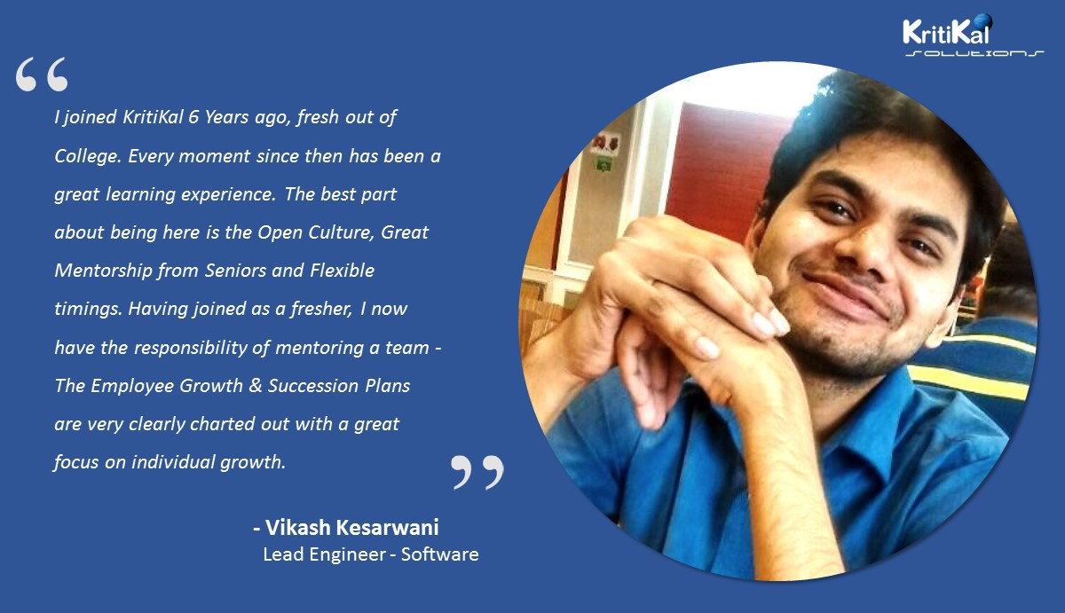 Vikash Kesarwani talks about his experience with KritiKal