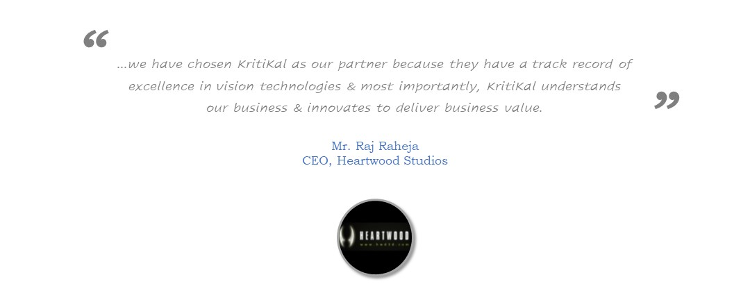 Heartwood Studios recommends KritiKal for outstanding Technology Work